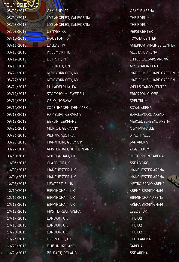Alone in the Universe Tour